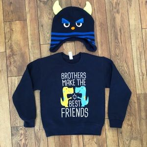Other - .⭐️ 2 for $10.  Boy's sweater and Hat.